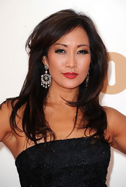 Carrie Ann Inaba's lips were ruby red for the 63rd Emmys. To try her look, we recommend a vibrant shade like NARS Lipstick in Jungle Red.