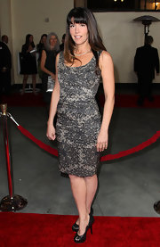 Patty Jenkins wore a lovely lace filigree cocktail dress to the DGA Awards.