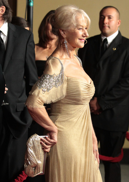 More Pics of Helen Mirren Evening Dress (1 of 15) - Helen Mirren Lookbook - StyleBistro