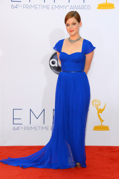 Jane Levy put the royal in royal blue at the Emmy Awards.