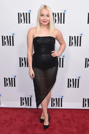 RaeLynn went the sultry route in a strapless, sheer-bottom LBD at the BMI Country Awards.