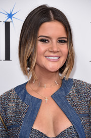Maren Morris looked cute wearing this center-parted ombre bob at the BMI Country Awards.