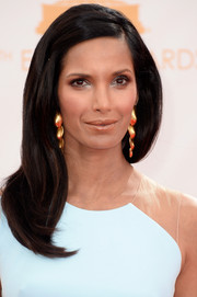 Padma opted for a sleek and straight 'do for the red carpet of the 2013 Emmy Awards.