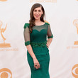 Mayim Bialik in Oliver Tolentino Couture