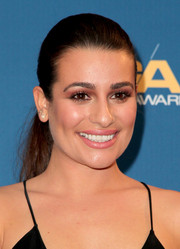 Lea Michele kept it casual with this slicked-back ponytail at the Directors Guild of America Awards.