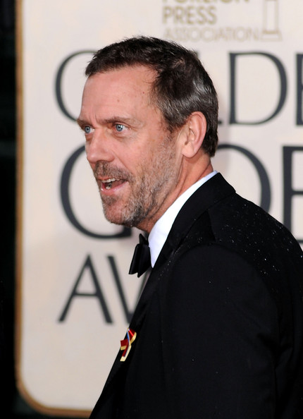 More Pics of Hugh Laurie Bowtie (1 of 5) - Hugh Laurie Lookbook - StyleBistro [suit,white-collar worker,facial hair,tuxedo,premiere,official,formal wear,arrivals,hugh laurie,beverly hills,california,the beverly hilton hotel,golden globe awards]