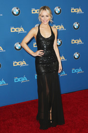 Rachel McAdams was a knockout in a figure-skimming black sequin gown by Michael Kors at the Directors Guild of America Awards.