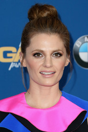 Stana Katic attended the Directors Guild of America Awards wearing her hair in a top bun.