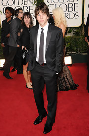Jesse looked classically handsome in a black suit and tie.