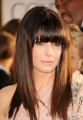 Hairstyles For Long Fine Hair - Sandra Bullock