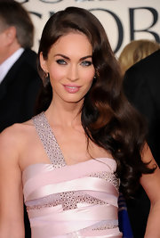 Megan Fox wore a long, side-swept 'do with loose waves at the 68th Annual Golden Globe Awards.