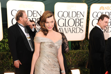 Milla Jovovich Wears Armani Privé at the Golden Globes 2011