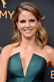 Natalie Morales looked glamorous with her perfectly styled waves at the Emmy Awards.