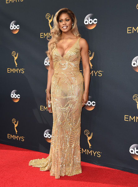 Laverne Cox in Naeem Khan