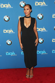 Kerry Washington opted for a daring yet elegant deep-V LBD by Sally LaPointe when she attended the Directors Guild of America Awards.