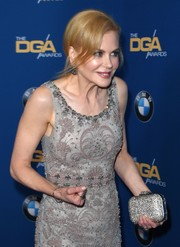 Nicole Kidman arrived for the Directors Guild of America Awards carrying a fully beaded clutch by Jimmy Choo.