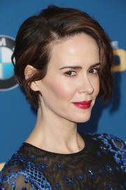 Sarah Paulson wore her short hair with a slight wave at the Directors Guild of America Awards.