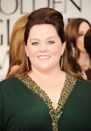 Melissa McCarthy wore her hair in a half-up, half-down hairstyle with lots of volume at the 69th Annual Golden Globe Awards.
