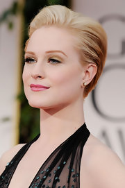 Evan Rachel Wood added lots of volume to her short 'do and swept it back for added drama at the 69th Annual Golden Globe Awards.