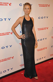 Carolyn Murphy simply smoldered at the DKMS Gala in this gunmetal sequined gown.