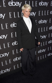 Pink looked really mannish in her black tux teamed with a boy cut at the Elle Women in Music celebration.