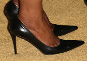 Oprah Winfrey chose a classic black pump for her sophisticated look at the Black Women in Hollywood Awards Luncheon.