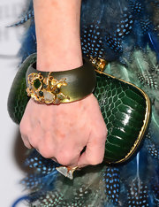 Dana Delany chose a deep green bangle with a gemstone detail for to top off her look at the Television Academy Honors.