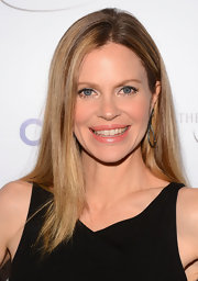 Kristin Bauer van Straten chose a sleek and straight 'do with a center part for her evening look at the Television Academy Honors.