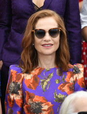 Isabelle Huppert attended the Cannes Film Festival 70th anniversary photocall wearing her usual shoulder-length waves.