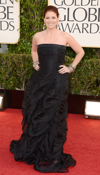 Debra Messing Wears Donna Karan at the 2013 Golden Globes