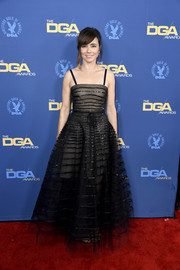 Linda Cardellini looked enchanting in a black Armani Prive gown with sparkly stripes at the 2019 Directors Guild of America Awards.