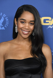 Laura Harrier looked beautiful with her flowing waves at the 2019 Directors Guild of America Awards.