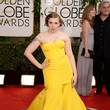 Lena Dunham in Zac Posen at the 2014 Golden Globe Awards