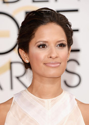 Rocsi Diaz rocked a tousled updo at the Golden Globes.