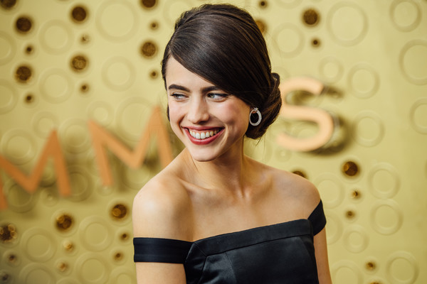 More Pics of Margaret Qualley Chignon (4 of 9) - Margaret Qualley Lookbook - StyleBistro [image,hair,face,skin,facial expression,smile,hairstyle,beauty,lady,shoulder,lip,arrivals,margaret qualley,emmy awards,filters,los angeles,california,microsoft theater]