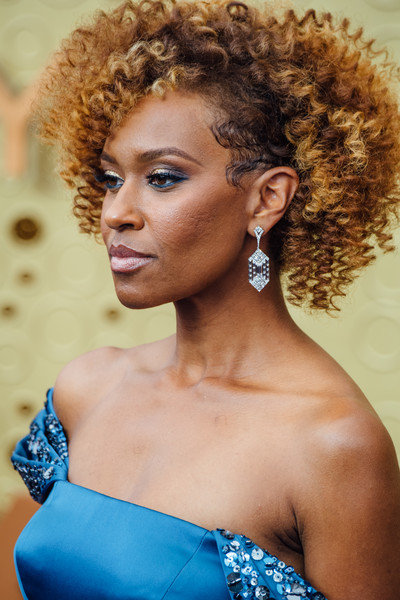 More Pics of Ryan Michelle Bathe Short Curls (1 of 14) - Ryan Michelle Bathe Lookbook - StyleBistro [image,hair,hairstyle,beauty,ringlet,afro,jheri curl,shoulder,lip,black hair,blond,arrivals,ryan michelle bathe,emmy awards,filters,los angeles,california,microsoft theater]