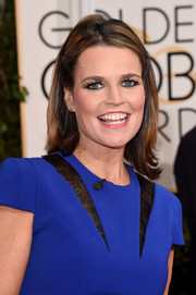 Savannah Guthrie opted for a casual flip hairstyle when she attended the Golden Globes.