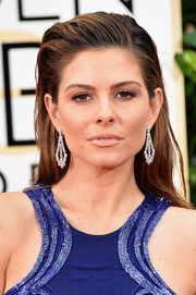 Maria Menounos went for punky styling with this slicked-back 'do during the Golden Globes.