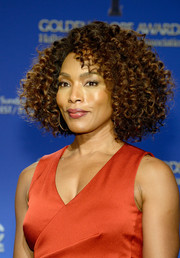 Angela Bassett was fabulously coiffed with this tight curly bob at the Golden Globe Awards nominations announcement.