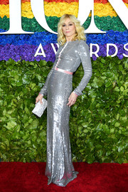 Judith Light glimmered in a silver sequined gown by Badgley Mischka at the 2019 Tony Awards.