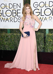 Connie Britton sweetened up the Golden Globes red carpet with this beaded pink one-sleeve gown by Georges Hobeika.