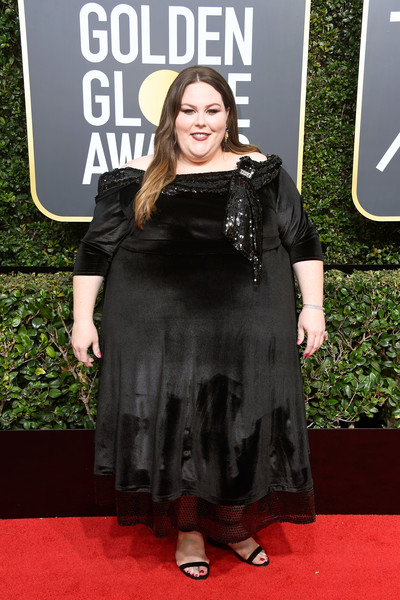 Chrissy Metz in Sachin and Babi at the Golden Globes