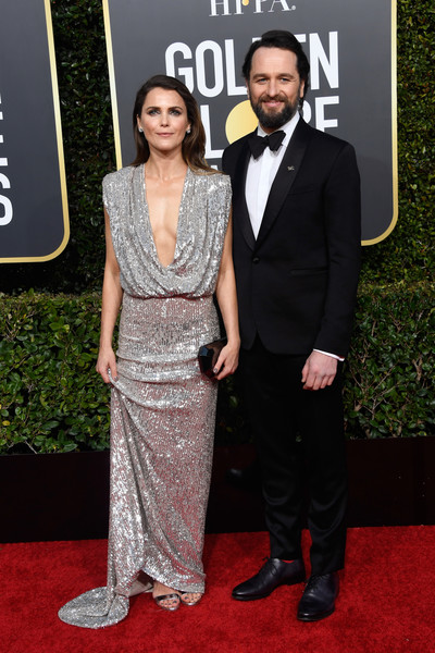 More Pics of Keri Russell Sequin Dress (1 of 12) - Dresses & Skirts Lookbook - StyleBistro [red carpet,carpet,clothing,dress,suit,fashion,premiere,formal wear,event,flooring,arrivals,keri russell,matthew rhys,beverly hills,california,the beverly hilton hotel,l,golden globe awards]