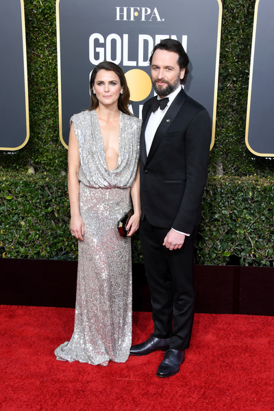 More Pics of Keri Russell Sequin Dress (5 of 12) - Dresses & Skirts Lookbook - StyleBistro [red carpet,carpet,clothing,dress,formal wear,flooring,fashion,premiere,gown,event,arrivals,keri russell,matthew rhys,beverly hills,california,the beverly hilton hotel,golden globe awards]