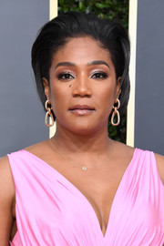 Tiffany Haddish sported a brushed-back bob at the 2020 Golden Globes.