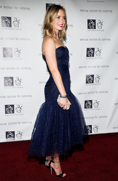 More Pics of Emily Blunt Strapless Dress (2 of 30) - Emily Blunt Lookbook - StyleBistro