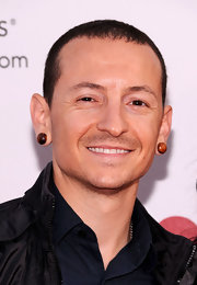 Chester Bennington kept it breezy with a buzzcut at the MusiCares benefit.