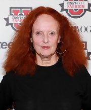 Grace Coddington accessorized with silver hoop earrings at the 7th annual Teen Vogue Fashion University.