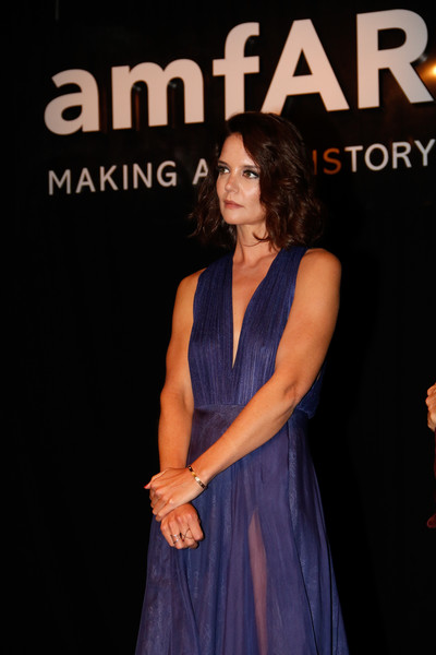More Pics of Katie Holmes Halter Dress (1 of 11) - Katie Holmes Lookbook - StyleBistro [fashion,premiere,dress,event,talent show,katie holmes,amfar inspiration gala,sao paulo,brazil]