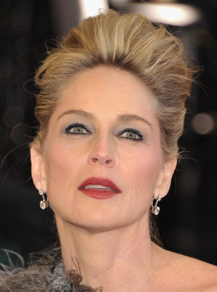 More Pics of Sharon Stone Red Lipstick (1 of 47) - Sharon Stone Lookbook - StyleBistro